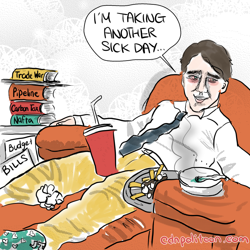 Trudeau Another Personal Day Caratoon