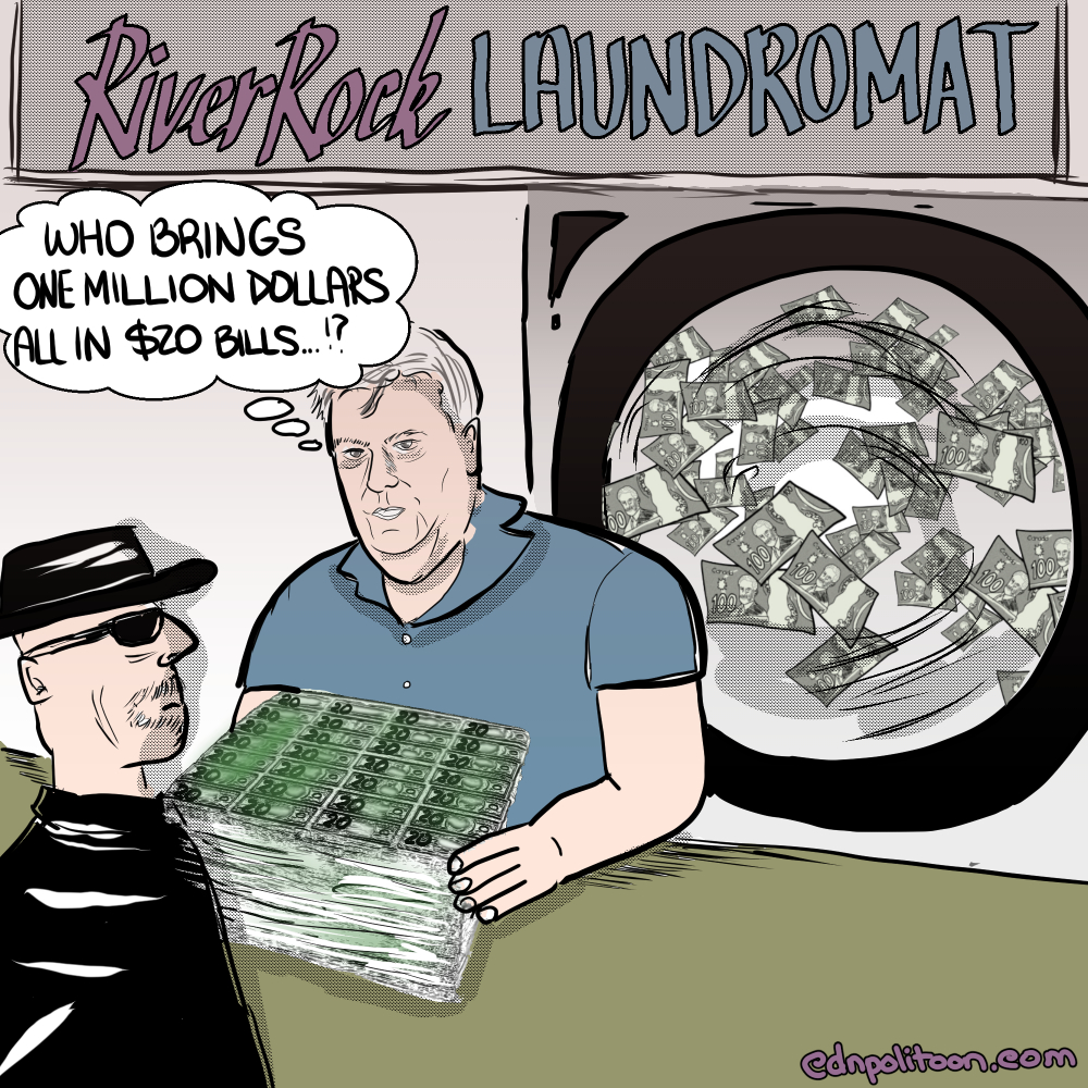 BCLC River Rock Casino Laundromat Cartoon about Money-Laundering