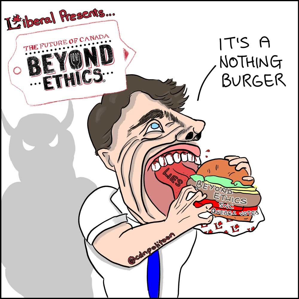 Trudeau Nothing Burger Cartoon